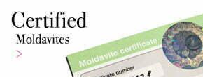 Moldavites with certificate